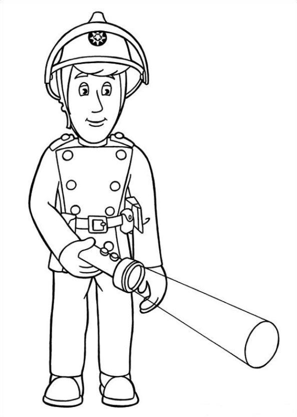 Feuerwehrmann sam ausmalbilder