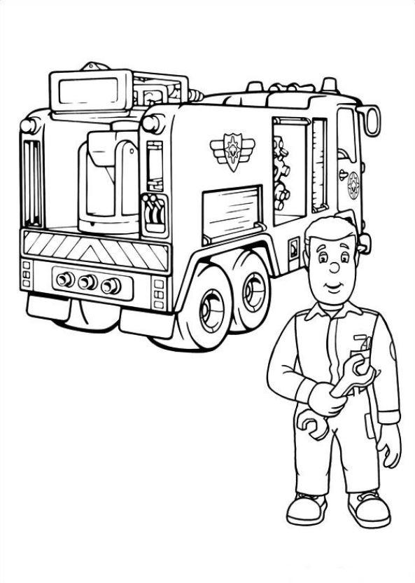 Malvorlage Feuerwehrmann Sam Ausmalbilder Yyl9o