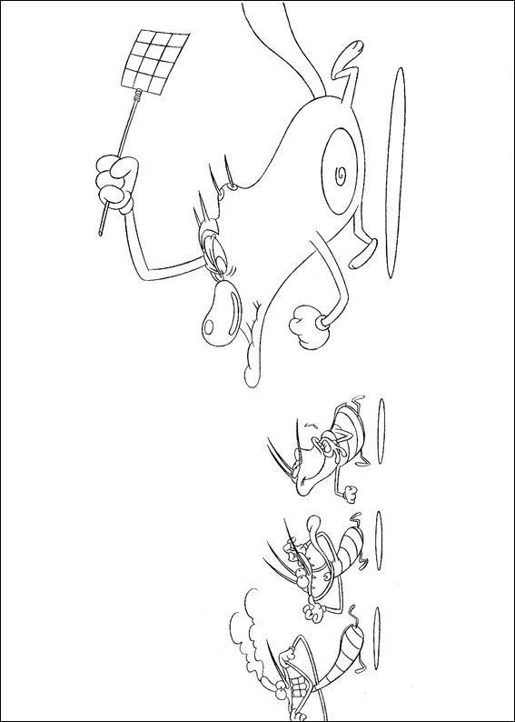 Oggy und die kakerlaken ausmalbilder