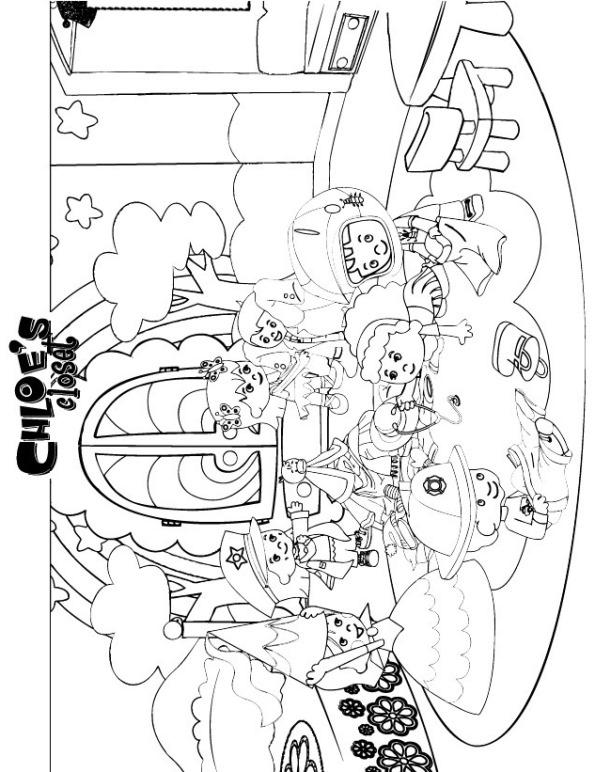 Malvorlage - Zoes zauberschrank ausmalbilder ixiww