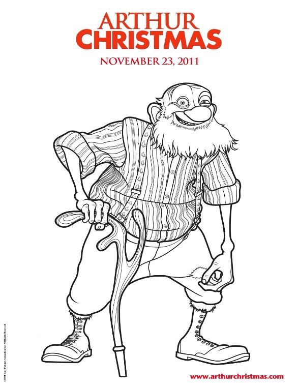 Arthur weihnachtsmann ausmalbilder
