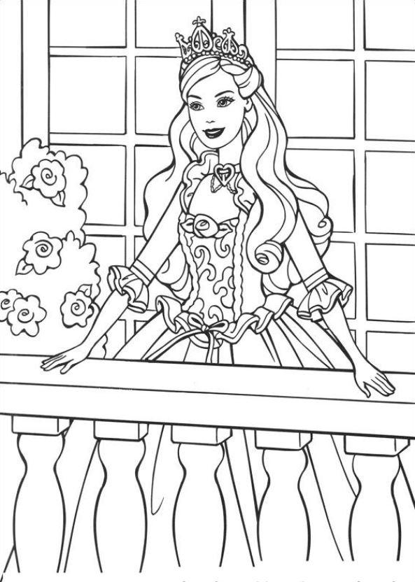 Malvorlage Barbie Als Die Prinzessin Und Das Dorfmadchen