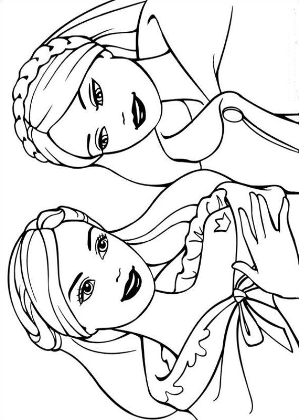 Barbie als die prinzessin und das dorfmadchen ausmalbilder