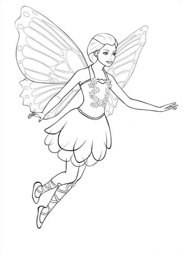 Barbie mariposa und die feenprinzessin ausmalbilder