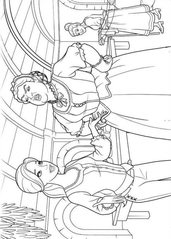 Barbie und die drei musketiere ausmalbilder