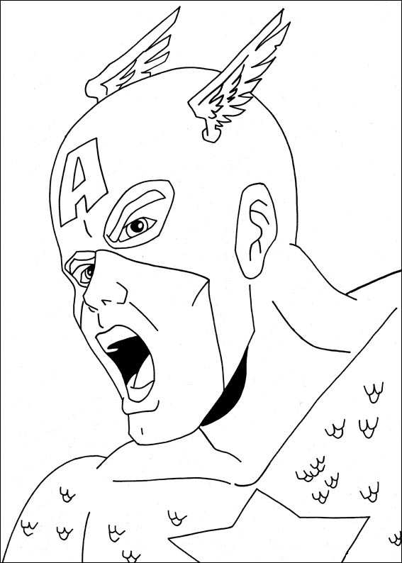 Captain america ausmalbilder