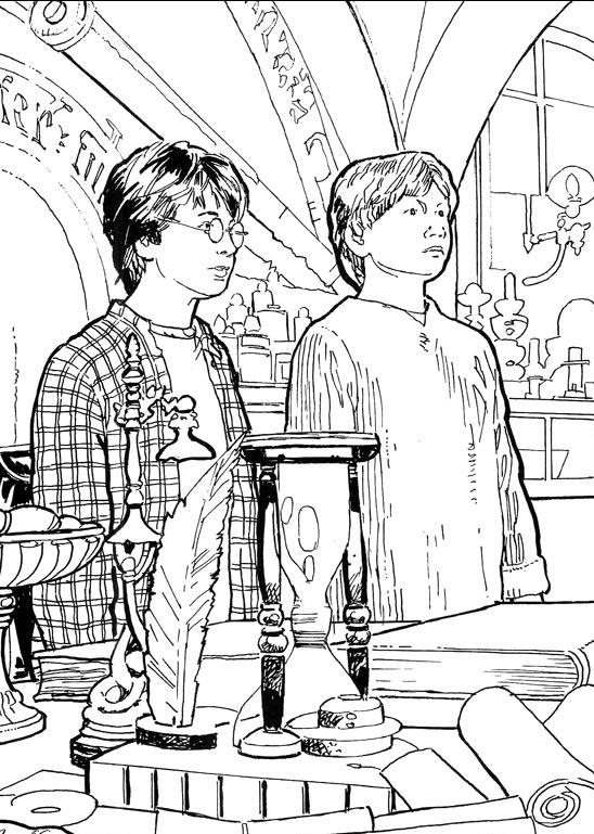 Harry potter 2 ausmalbilder