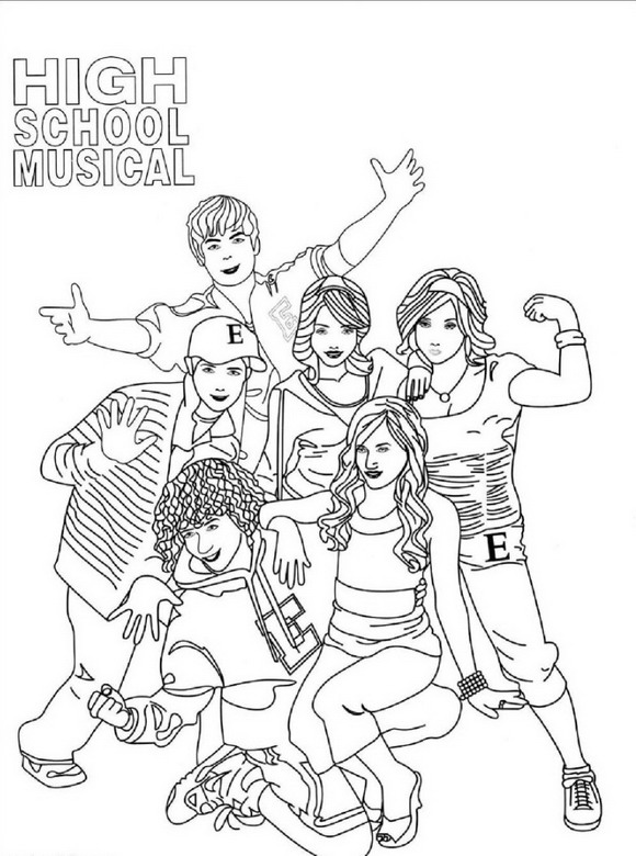 High school musical ausmalbilder