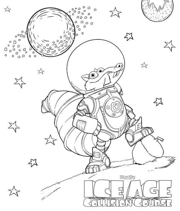 Ice age 5 kollision voraus ausmalbilder