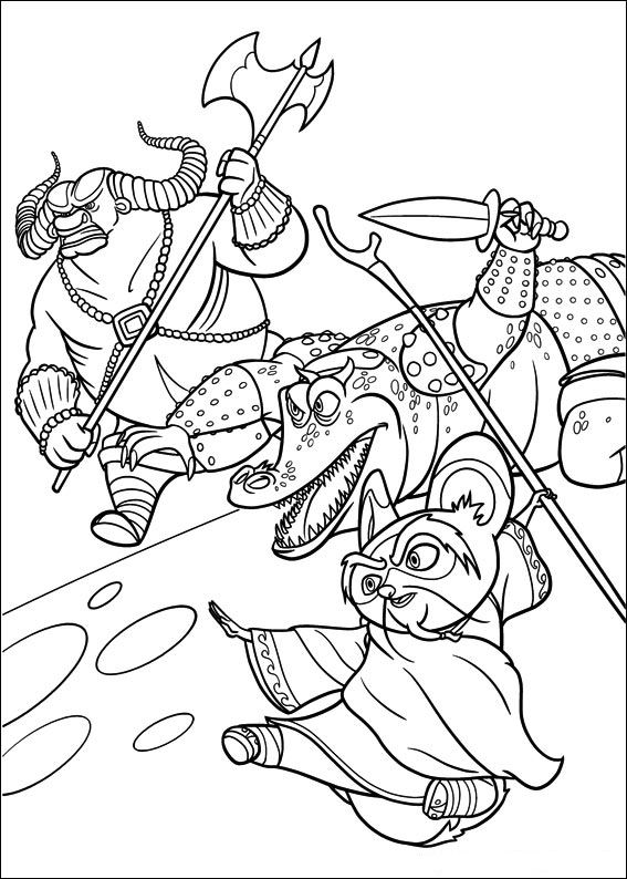 Kung fu panda 2 ausmalbilder