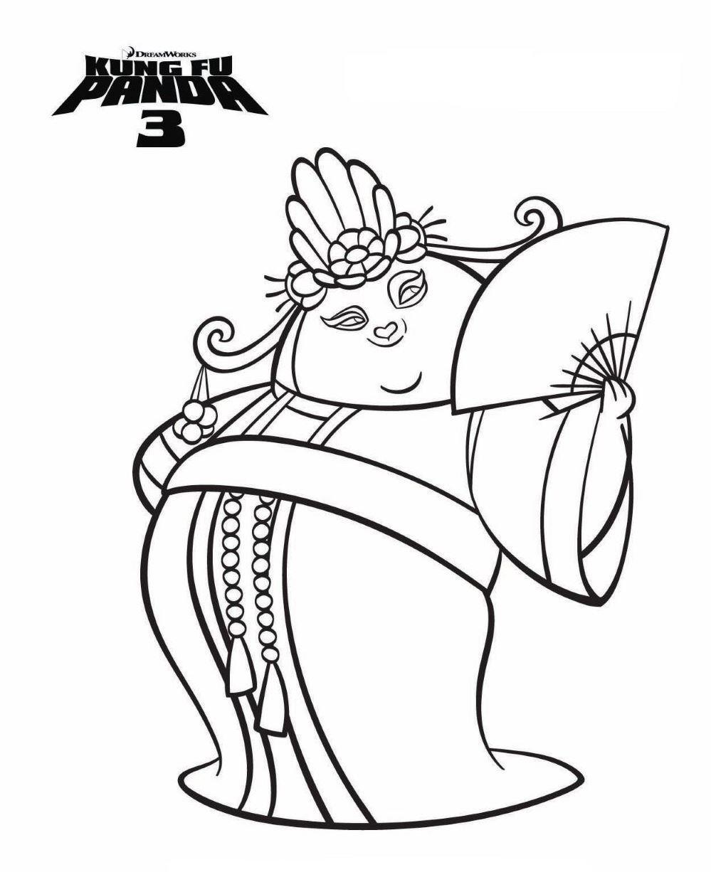 Kung fu panda 3 Ausmalbilder | Animaatjes.de