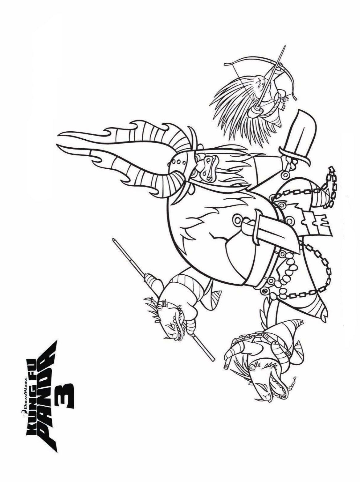 Malvorlage - Kung fu panda 3 ausmalbilder rjgou