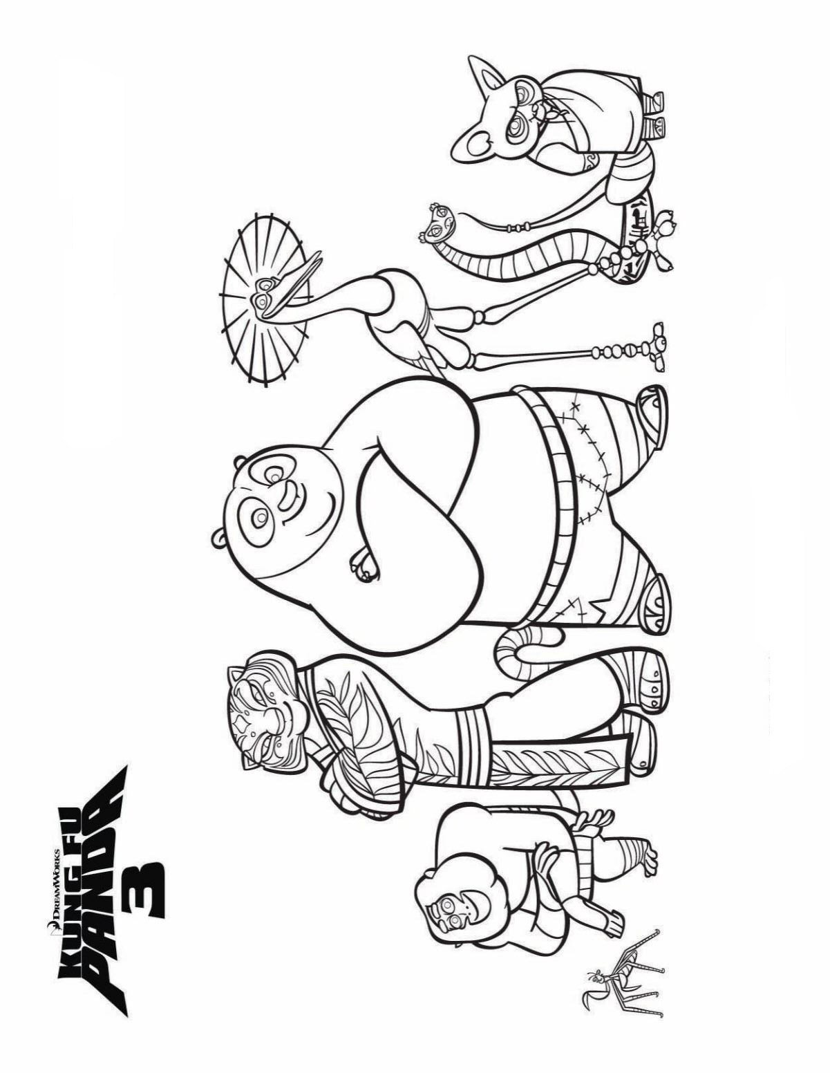 Kung fu panda 3 ausmalbilder