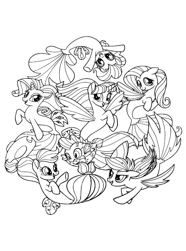 My Little Movie Pony Coloring Pages Tempest