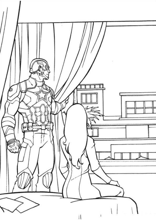 The first avenger civil war ausmalbilder