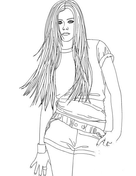 Avril lavigne ausmalbilder