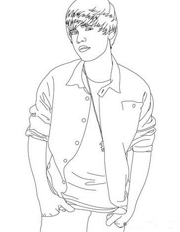 Justin bieber ausmalbilder