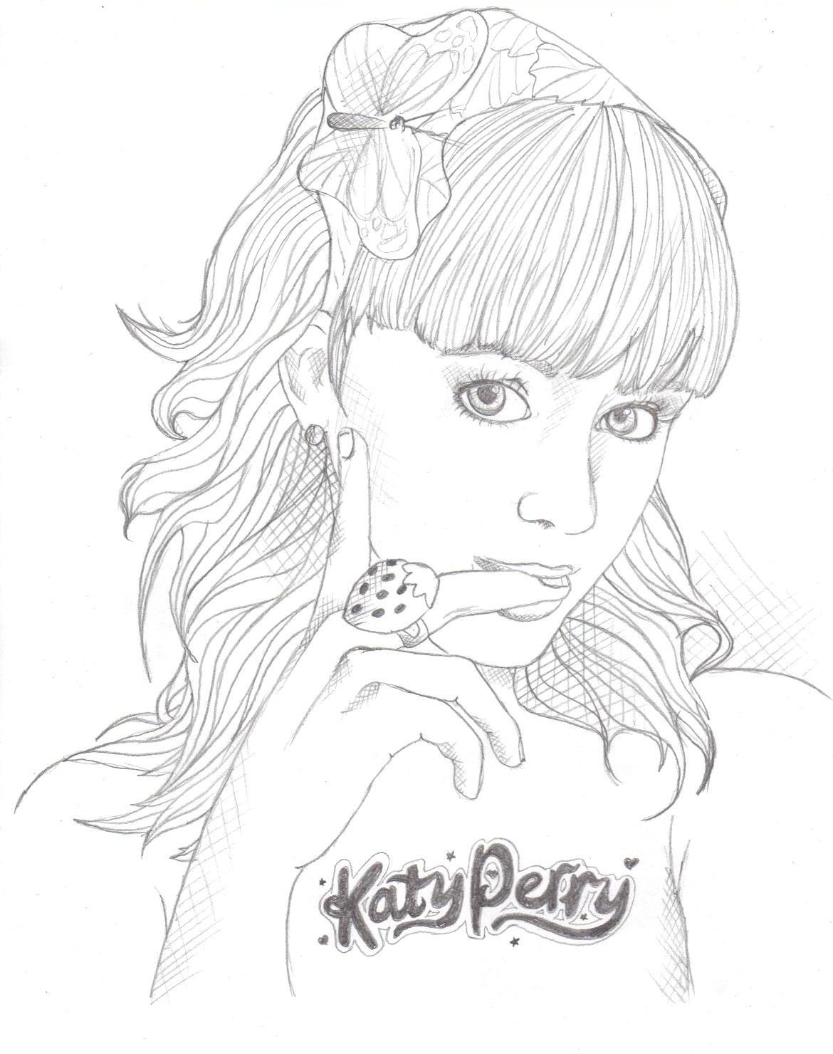 Katy perry ausmalbilder