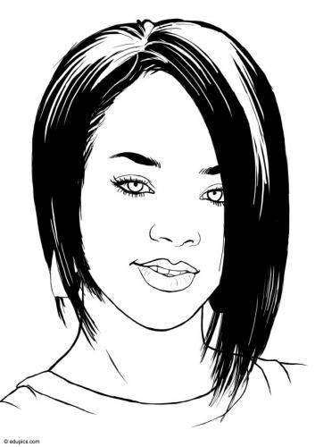 Rihanna ausmalbilder