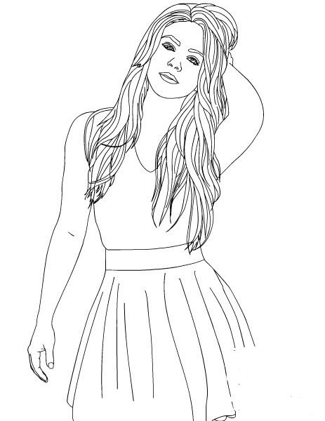 Shakira ausmalbilder