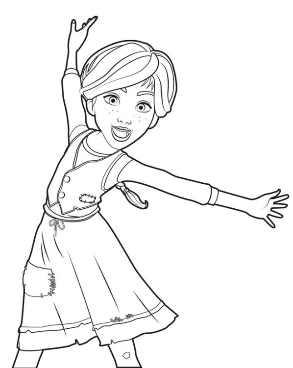Ballerina ausmalbilder