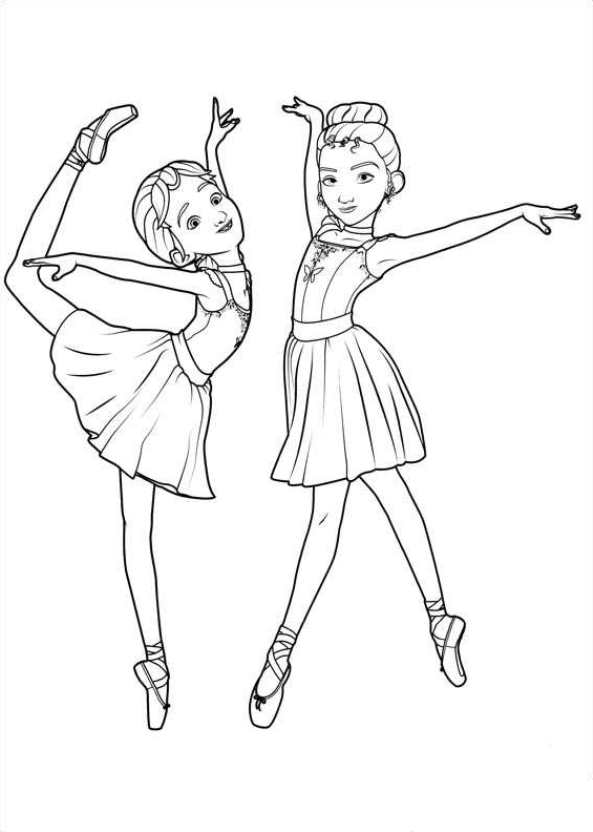 Malvorlage - Ballerina ausmalbilder xozxw