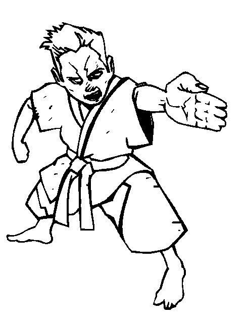 Karate ausmalbilder