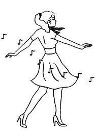 Tanzen ausmalbilder