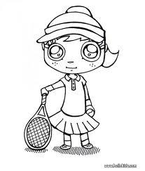 Tennis ausmalbilder