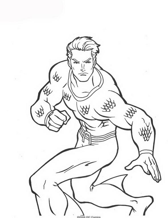 Aquaman ausmalbilder