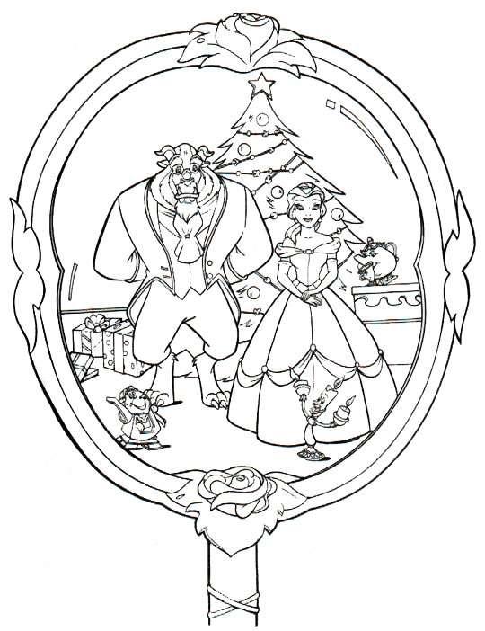 Weihnachten disney ausmalbilder