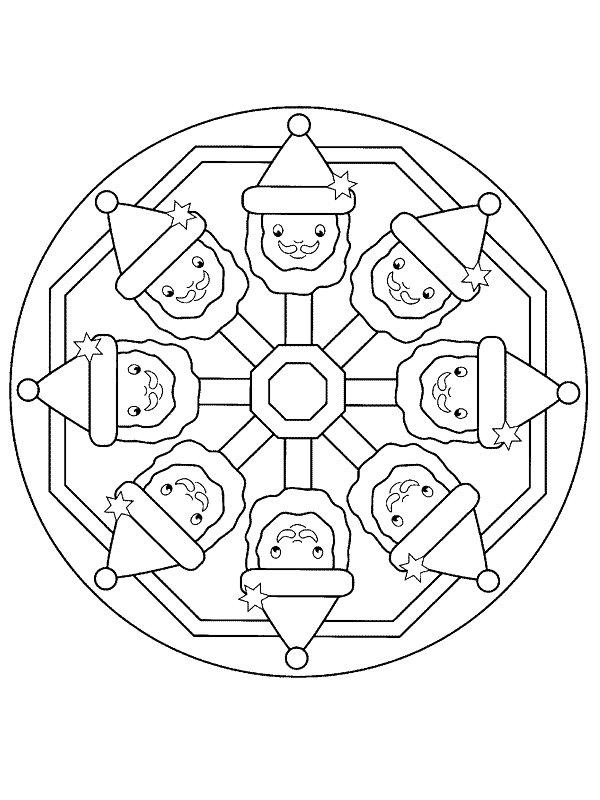 malvorlage - weihnachten mandala ausmalbilder alytu