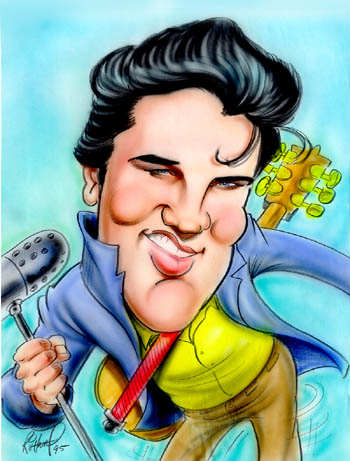 karikaturen bild elvispresley. Black Bedroom Furniture Sets. Home Design Ideas