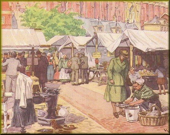 Marktbude bilder