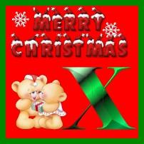 Weihnachten alphabet bilder