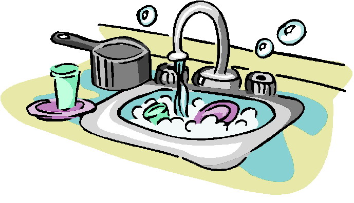 Washing Dishes Clip Art Free