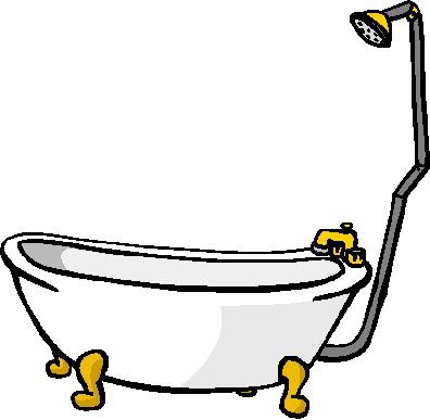 Dusche clipart  Clipart - Animaatjes bad douche nemen 67883
