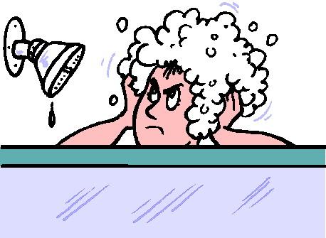 Badewanne und dusche cliparts