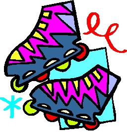 Inline skaten cliparts