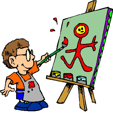 Clipart schilderen animaatjes 322