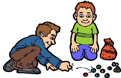 Murmeln spielen cliparts