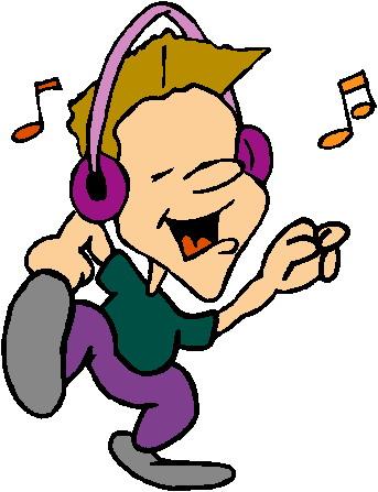 Musik horen cliparts