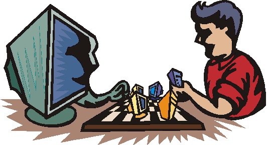 Schach spielen cliparts