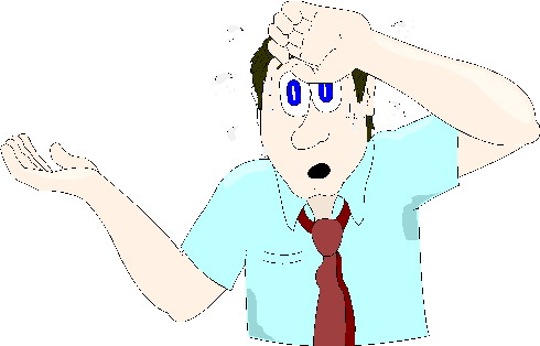 Schwitzen cliparts
