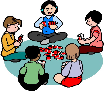 Karten Spielen Clipart
