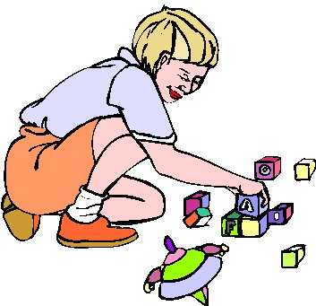 Spielende kinder cliparts
