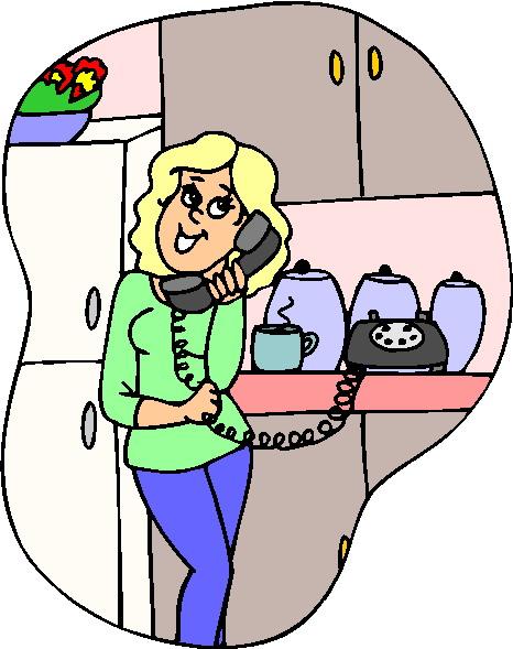 Cliparts » Telefonieren Cliparts