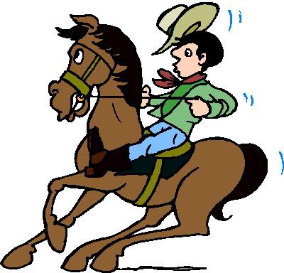 Pferde cliparts - Dessin de cowboy ...