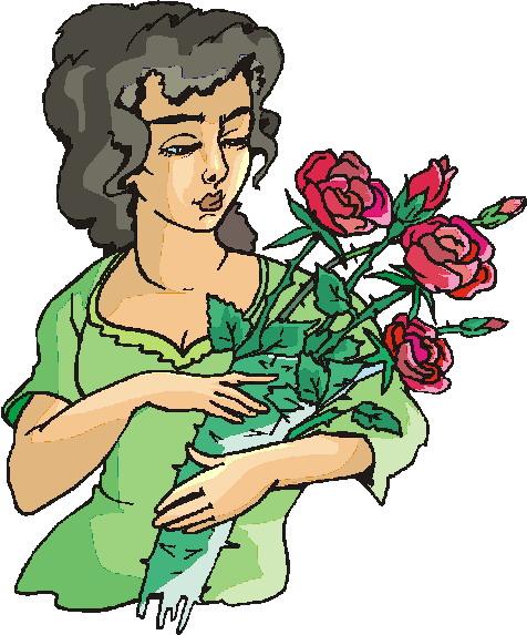 Blumenhandler cliparts