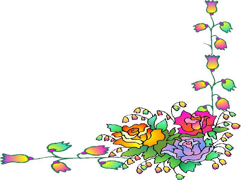 Clipart Animaatjes Bloemen Kaders 22108